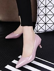 Women's Shoes Sweet Patent Leather Stiletto Heel Comfort / Pointed Toe Low Heels Shoes