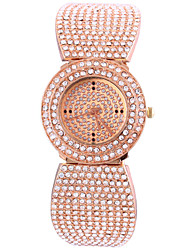 Women's Full Diamond Rectangle Dial Steel Band Quartz Analog Rose Gold Wrist Watch Cool Watches Unique Watches