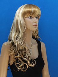 Europa en de Verenigde Staten de nieuwe pruik dame gouden polyester geverfd krullend haar pruiken