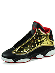 Men's Basketball Shoes Athletic / Casual Fashion Sneakers Black / White / Gold