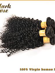 6a brésiliens vierges 3pcs armure de cheveux d'/ lot brésilien crépus cheveux bouclés vierge humaine extensions de cheveux rose noire