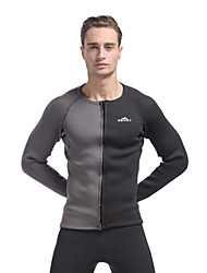 SBART 3MM Neoprene Winter Warm Men Diving Shirt Rash Guard Black/Grey Color
