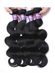 4pcs brasileira onda do corpo cabelo virgem onda do corpo brasileiro onda do corpo brazillian 100% cabelo humano tecelagem
