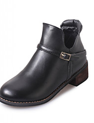 Womens Shoes Round-Toe Coat of paint Leather Hasp Fashion Boots Black/Silver