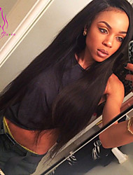 "Mongolian Full Lace Human Hair Wigs For Black Women Glueless Full Lace Wig Straight 8""-24"" Fast Shipping"