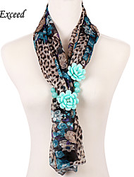 D Exceed New Design Ployester Women Scarves with Flower Printed Bohemian Chiffon Vintage Winter Scarves Free Shipping