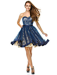 TS Couture® Cocktail Party / Company Party Dress A-line Sweetheart Knee-length Tulle with Draping