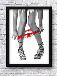 Sexy Poster Framed Canvas 33.3*43.3CM Wall Art , Wood