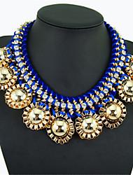 Europe and America Exaggeration Popular Short Beads Necklace KE21521