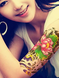Lotus Waterproof Flower Arm Temporary Tattoos Stickers Non Toxic Glitter
