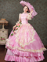 Steampunk®Top Sale Royal Pink Victorian Party Ball Gown Wholesalelolita Rococo Princess Prom Dresses