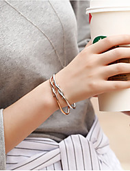 Fashion Women Polished Twist Metal Adjustable Cuff