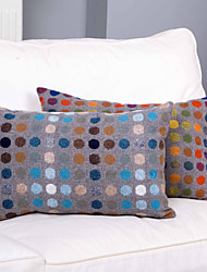 Velvet Pillow Cover , Polka Dots Traditional/Classic