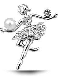 la mariée mariage Ballet Girl Broche perles