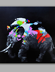Single Modern Abstract Pure Hand Draw Frameless Decorative Painting The Elephant