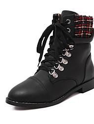 Women's Shoes Flat Heel Comfort Boots Outdoor Red / White