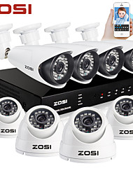 ZOSI®8CH HDMI 960H DVR 8 pcs 1000TVL IR Home Surveillance Security Cameras CCTV System