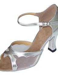 Non Customizable Women's Dance Shoes Leatherette Leatherette Latin Sandals / Heels Chunky HeelIndoor / Performance / Practice / Beginner