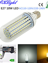 YouOKLight® 1PCS E27 18W 1500lm 138-2835SMD 3000K/6000K High brightness &long life 45,000H LED Light AC110-120V/220-240V