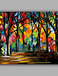 Knife Forest Pure Handmade Design Landscape Oil Painting