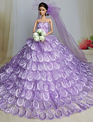 Wedding Dresses For Barbie Doll Light Purple Dresses