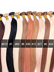 ANNA Brazilian I-TIP Hair Extensions 0.5g/Pcs Bonded Keratin Stick I tip Fusion Straight Human Hair Extensions 50g/lot