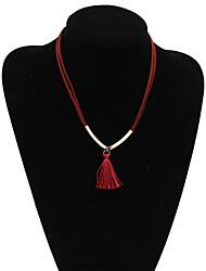 Bijoux Pendentif de collier Soirée / Quotidien / Décontracté / Sports Alliage / Molleton / Tissu 1pc Femme Cadeaux de mariage