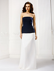 TS Couture® Formal Evening Dress - Multi-color Sheath/Column Strapless Floor-length Chiffon