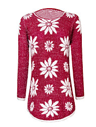 Women's Print Pullover Sweater , New Fashion Sweater