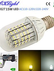 YouOKLight® 1PCS E27 15W 1300lm 138-3528SMD 3000K/6000K High brightness &long life 45,000H LED Light AC110-120V/220-240V