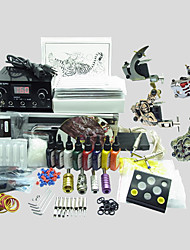 4 Guns BaseKey Tattoo Kit K407 Machine With Power Supply Grips Cups Needles(Ink not included)