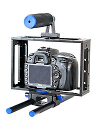 yelangu® přenosný univerzální digitální zrcadlovky klec / bmcc klec s horní rukojetí pro 5D3 5d2 7d