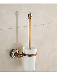 Aluminium Bathroom Toilet Brush Holder Neoclassical Brushed Wall Mounted
