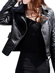 Women's Long Sleeve Evening/Career PU Leather Jacket
