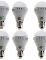 zweihnder® 6pcs 5w e27 480LM 5500-6000k 18x2835 SMD lampadina a luce bianca (100-240V)
