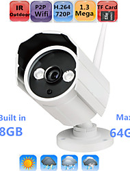 Waterproof HD IP Camera Outdoor Security 720P P2P Wifi IR Night Vision Onvif 64GB TF SD Card Max
