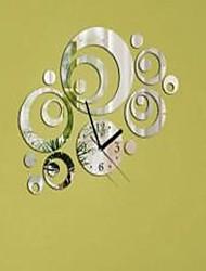 Fashion Top Grade Individuality DIY Acrylic Mirror Wall Wall Poster Circle Wall Clock
