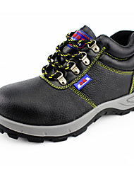 Men's Shoes Outdoor / Work & Duty Cowhide / Leather / Patent Leather Slip-on Black