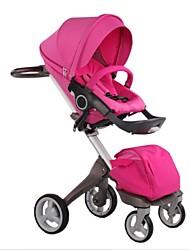 DSLAND Baby Stroller High-sightseeing Shock-resistent Two-way Floden 4-wheel Sit or Sleep Pram
