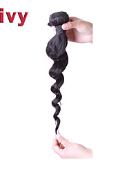 "Vivy 8""-30"" #1B Natural Black Brazilian Remy Hair Extensions Loose Wave Hair Brazilian Hair Virgin Weave Human Hair"