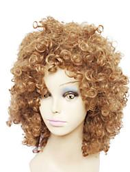 capless sexe orange de courte perruque de cheveux bouclés synthétique pour femmes noires