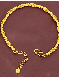 Plated 24K gold transfer bead bracelet