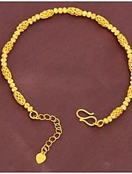Pulseiras Corrente Dourado Sem Pedra Mulheres
