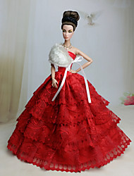 Wedding Dresses For Barbie Doll Red Dresses