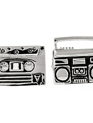 Tape and Radio French shirt cufflinks cuff nail