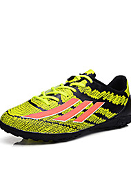 Zapatos Fútbol Microfibra Negro / Azul / Amarillo Hombre