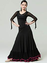 Roupa ( Preto / Vermelho , Fibra de Leite , Dança Moderna ) - de Dança Moderna - Mulheres