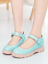 Women's Shoes  Flat Heel Round Toe Flats Office & Career / Dress / Casual Blue / Pink / White / Beige