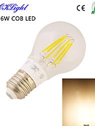 1 pièce YouOKLight E26/E27 6W 6 COB 650 LM Blanc Chaud B edison Vintage Ampoules Globe LED AC 100-240 / AC 110-130 V