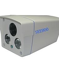 """seehoo® 2 levou matriz de 1/4 """"CMOS 900tvl impermeável ao ar livre&HD lente 6 milímetros branca utilizados interior"""